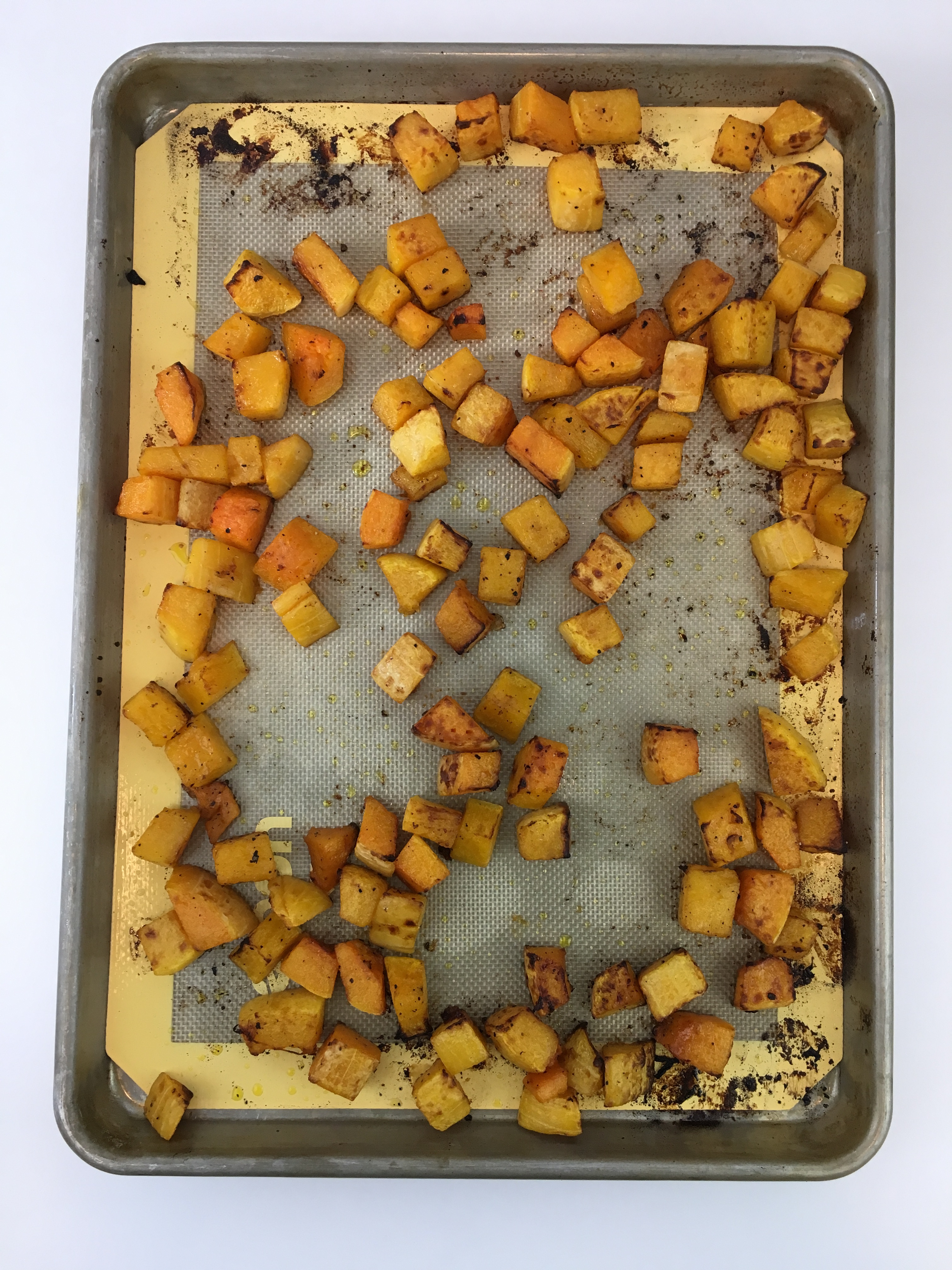 how to cook butternut squash on pan